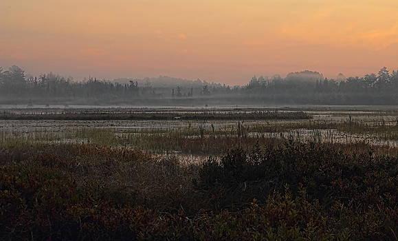 Dale Kauzlaric - Orange September Sunrise over the Bog Lake