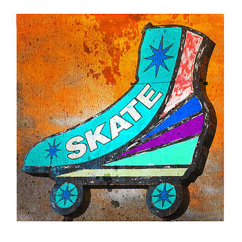 Orange Skate by Gail Lawnicki