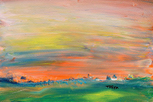 Orange Sky by Tonya Schultz