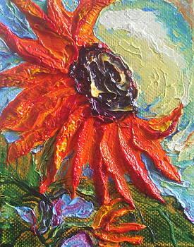 Orange Sunflower by Paris Wyatt Llanso
