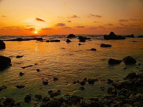 Orange Sunset by Meir Ezrachi