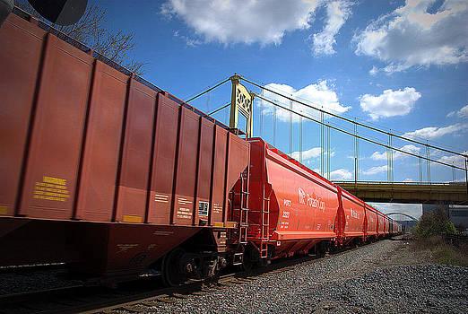 Orange Train  by M Hess