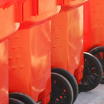 Art Block Collections - Orange Trash Cans