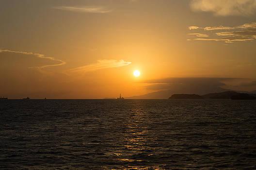 Orange Western Sunset by Christian Hume
