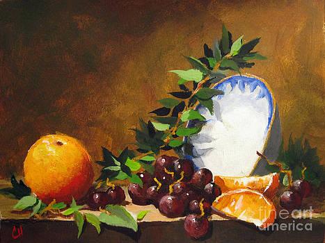 Orange With Bowl by Carol Hart