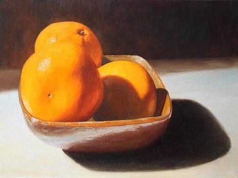 Oranges in a Glazed Bowl by Beth Johnston