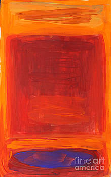 Oranges Reds Purples after Rothko by Anne Cameron Cutri