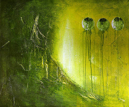 Orbs # 2 by Cheryl Poulin