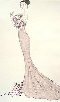 Orchid Ball Gown by Christine Corretti