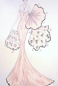 Orchid Fantasy Gown by Christine Corretti
