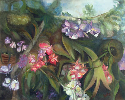 Orchids I by Susan Hanlon