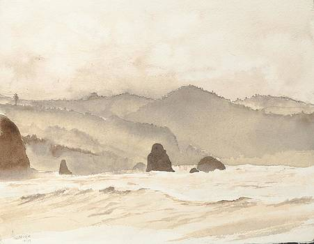 Oregon Coast Waves by Jean Moule