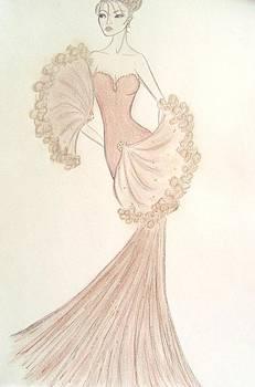 Organza Fan Dress by Christine Corretti