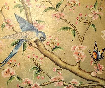 Oriental Bird and Butterfly by Sandra Lett