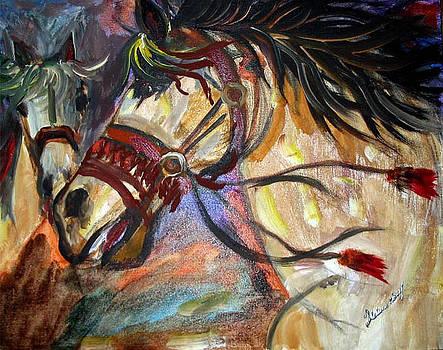 Oriental Horse by Helene Khoury Nassif