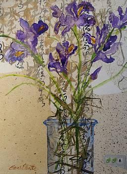 Oriental Iris by Elaine Elliott