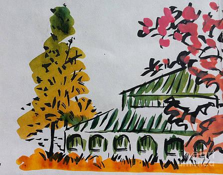 Oriental Watercolour by Michelle Deyna-Hayward