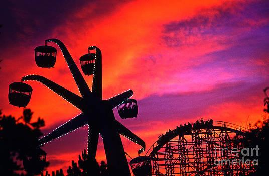 Original Astro World Vintage Roller Coaster-Ferris Wheel by Howard Koby