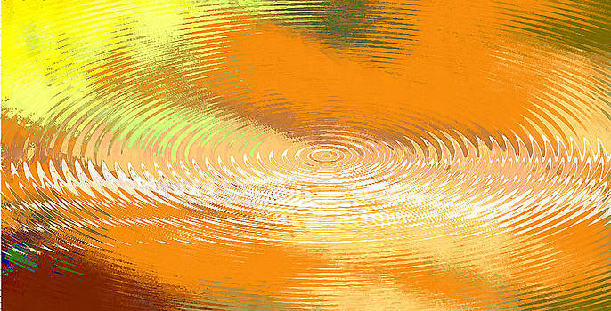 G Linsenmayer - ORIGINAL FINE ART DIGITAL ABSTRACT GALAXIE ORANGE