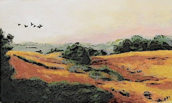 G Linsenmayer - ORIGINAL FINE ART PAINTING LANDSCAPE MARYLAND FIELDS