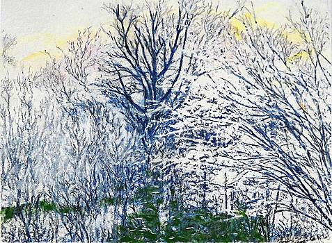 G Linsenmayer - ORIGINAL PAINTING FREDERICK MARYLAND TREES AND SNOW