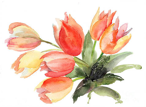 Original Tulips flowers by Regina Jershova