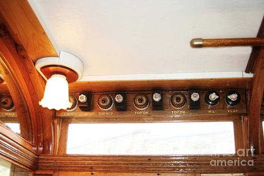 Original Vintage Victorian Trolley Bus Lights  by Doc Braham