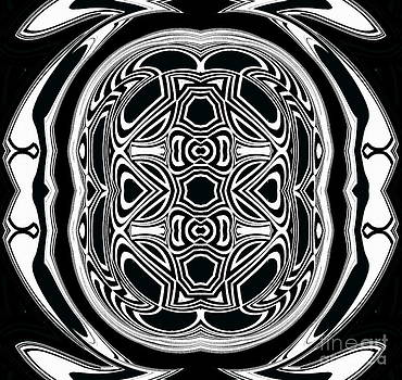 Ornament and Pattern Geometric Abstract Black White Art No.297. by Drinka Mercep