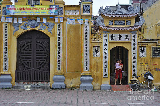 Ornate buildings in the city centre of Hanoi by Sami Sarkis
