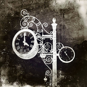 Angela Bonilla - Ornate Vintage Clock in Sepia