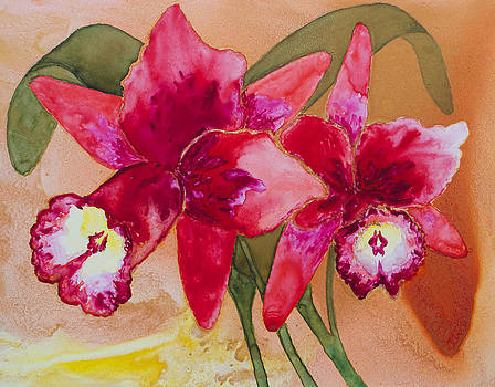 Patricia Beebe - Oro Orchid Red Redeux