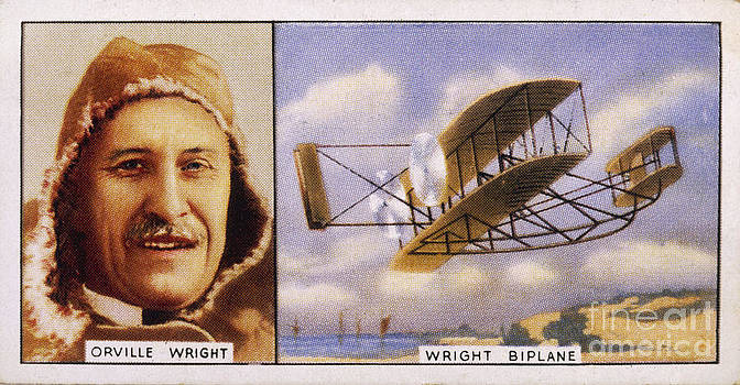 Mary Evans Picture Library - Orville Wright And Biplane