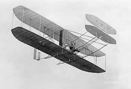 Photo Researchers - Orville Wright In Wright Flyer 1908