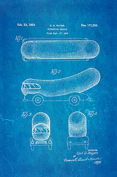 Ian Monk - Oscar Mayer Wienermobile Patent Art 1954 Blueprint