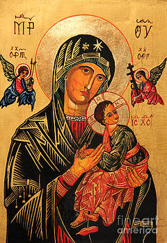 Our Lady of Perpetual Help Icon II by Ryszard Sleczka