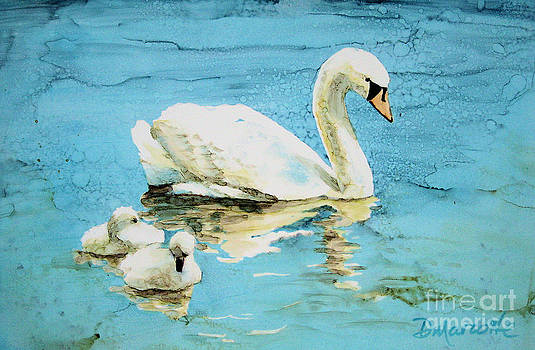 Out for a morning swim by Diane Marcotte