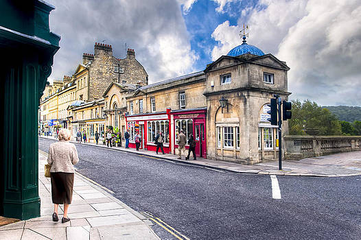 Mark Tisdale - Out For A Walk on Pulteney Bridge in Bath England