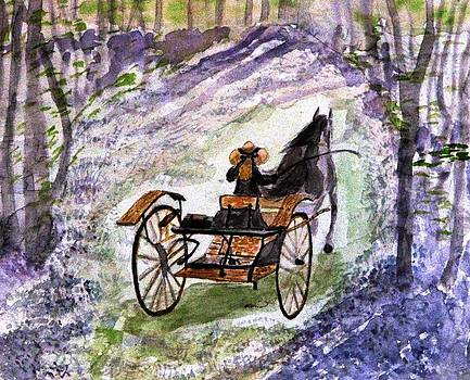Angela Davies - Out In The Meadowbrook Cart