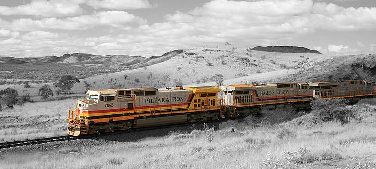 Outback Train Colorsplash by Carl Koenig