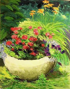 Outdoor Flower Pot  by Nicolas Bouteneff