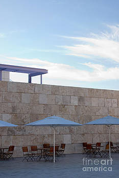 Outdoor Terrace at the Getty Center in Los Angeles by Julia Hiebaum