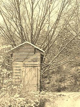 Outhouse in the Snow by Sharon Costa