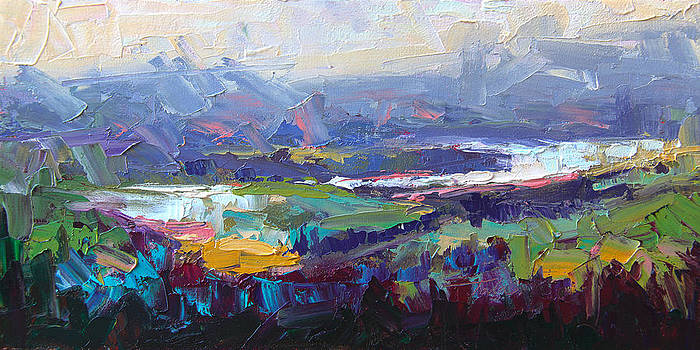 Overlook abstract landscape by Talya Johnson