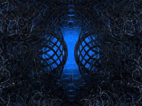 Overgrown Entry - Blue by Elizabeth S Zulauf