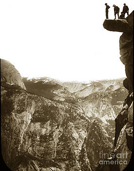 California Views Mr Pat Hathaway Archives - Overhanging Rock Yosemite California by Joseph LeConte 1900