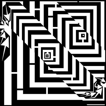 OverLapping Squares Maze  by Yonatan Frimer Maze Artist