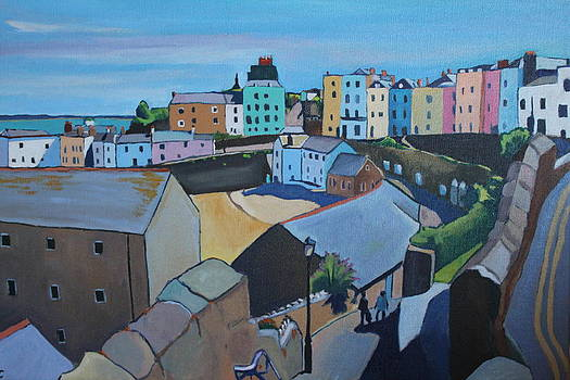 Overlooking Tenby Harbour  by Emma Cownie