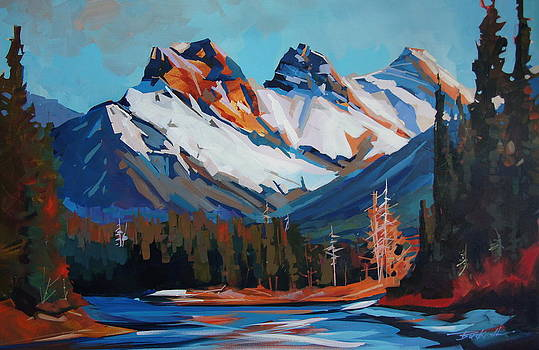 Overlooking the Bow River by Brian Buckrell
