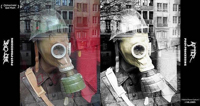 Overprinted Gas Mask by Stwayne Keubrick