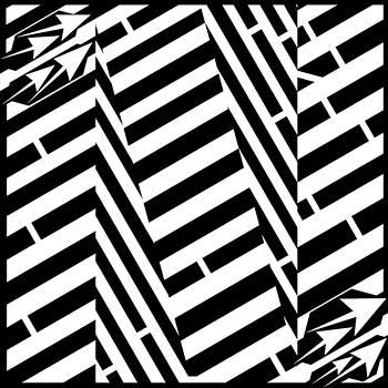 Oversized N Maze by Yonatan Frimer Maze Artist